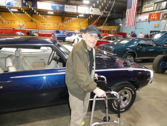 Maine Veterans' Homes - Caribou resident enjoys and outing to a car show