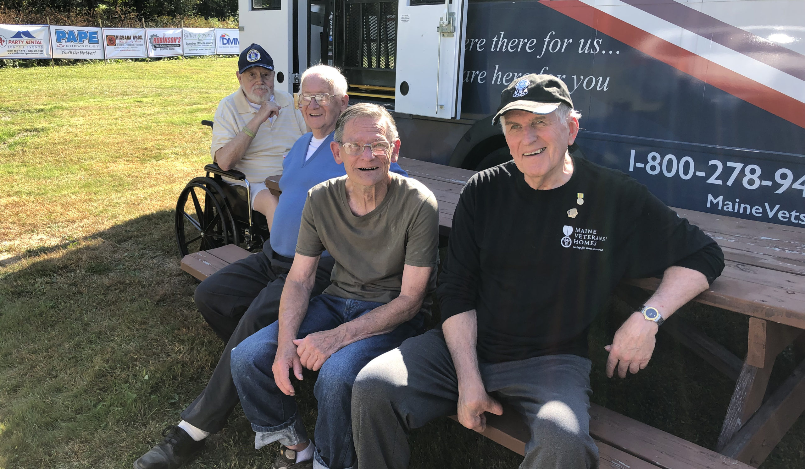 Maine Veterans' Homes residents enjoy an outing