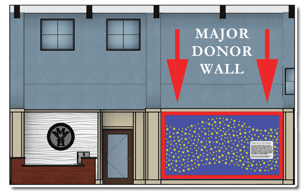 MVH Augusta New Home donor wall graphic